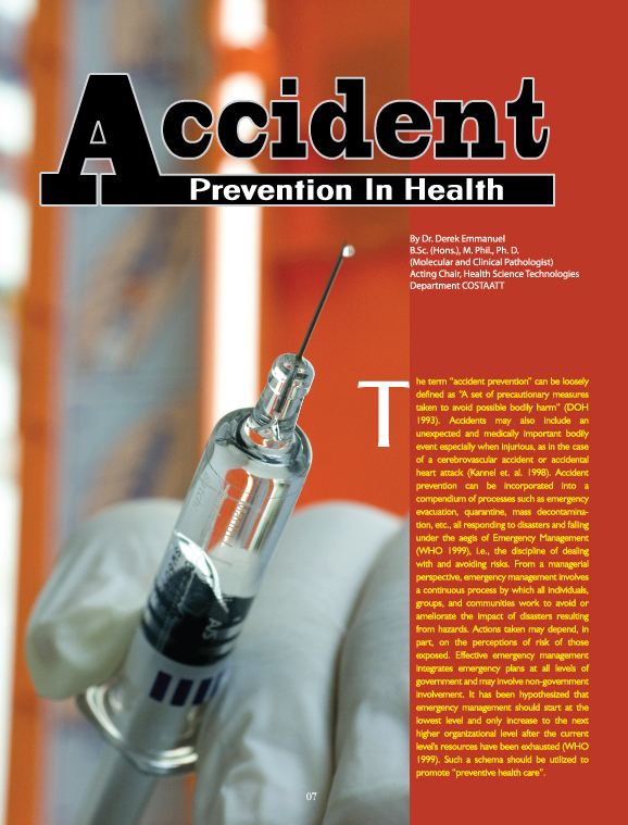 Accident Prevention in Health